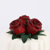 "Pillole di zucchero creativo per ""Red Rose Cake"""