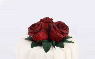 """Pillole di zucchero creativo per """"Red Rose Cake"""""""