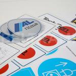 Alcuni esempi di etichette adesive a colori ad uso industriale caratterizzate da altissima resistenza.