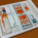 MENTADENT – Risultato dell'incisione del supporto da inserire come divisorio delle valigette in dotazione agli studi dentistici.