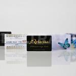 Alcuni esempi di card in PVC realizzate con stampa diretta UV-LED in rilievo e dato variabile per tessere associative.